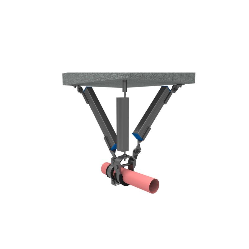 单管双向抗震支吊架